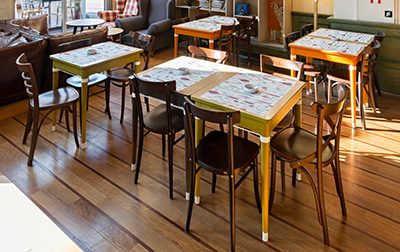 Restaurant Chic im industriellen Design