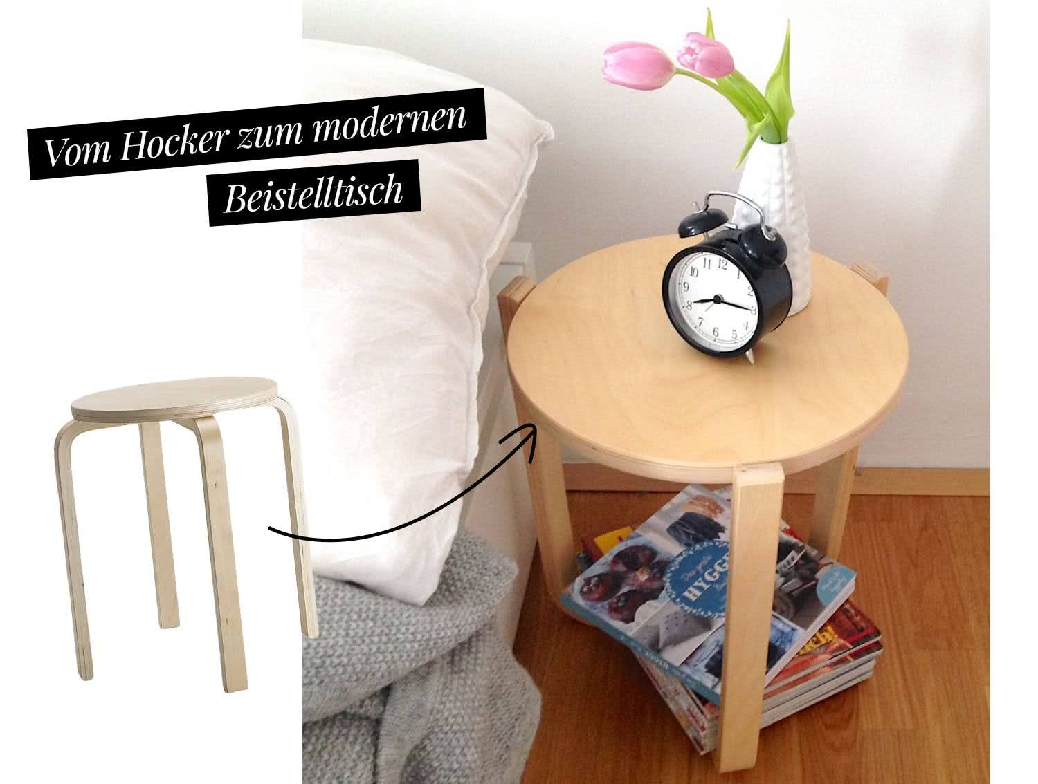 ikea hack frosta hocker als stylischer dreibeinhocker. Black Bedroom Furniture Sets. Home Design Ideas