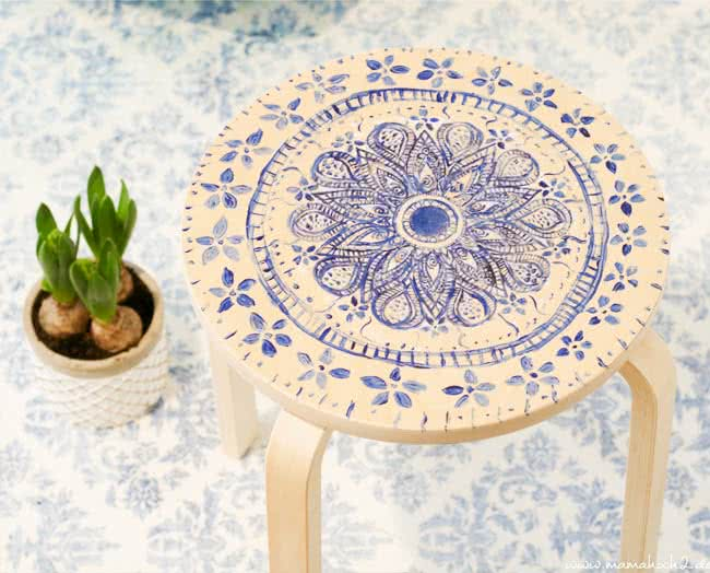 mandala hocker ikea hack