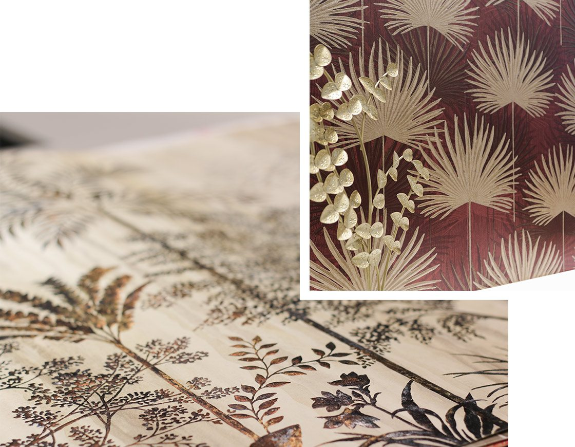Trends-Tapeten-florale-Muster-gold