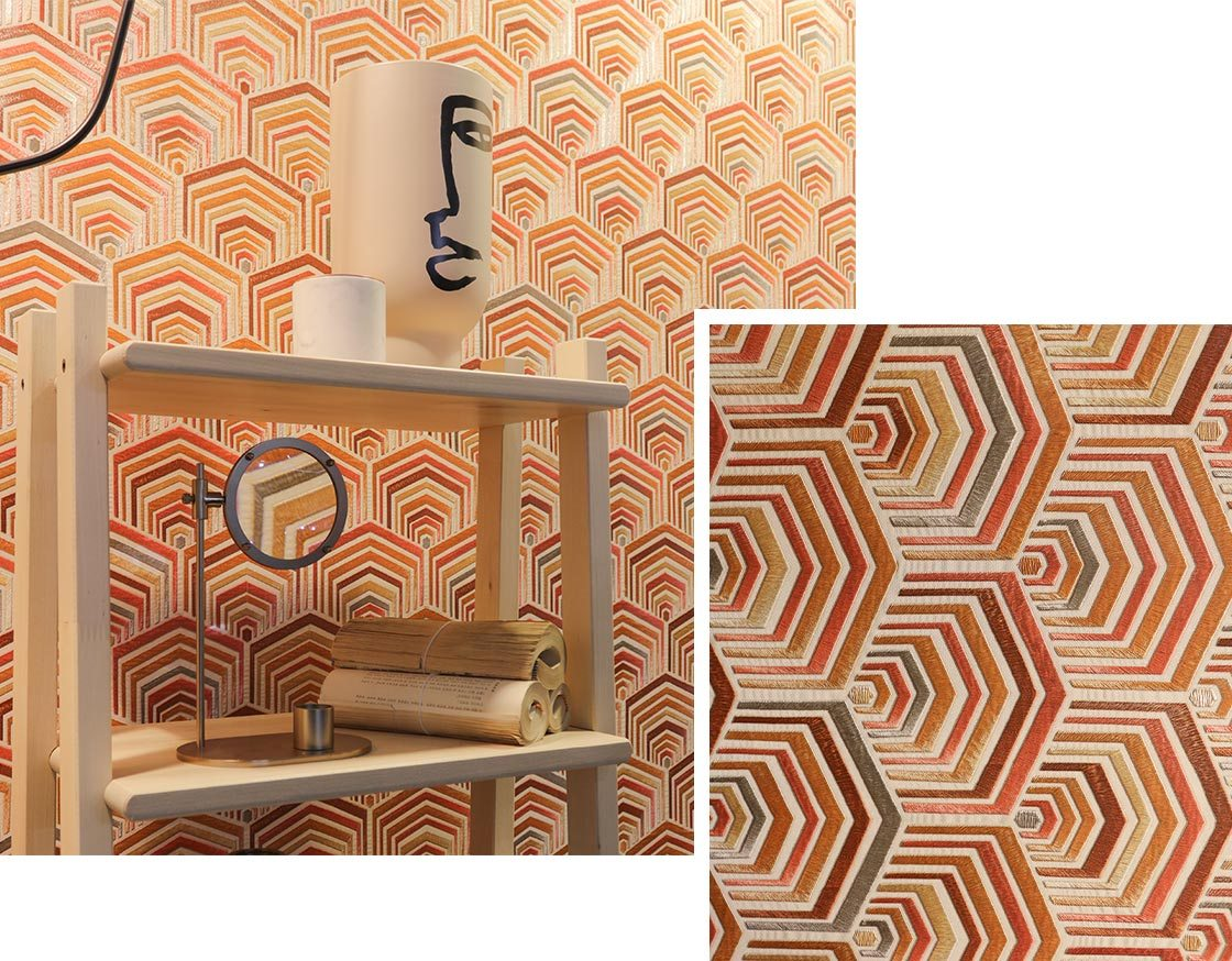 Trends-Tapeten-geometrisch-orange